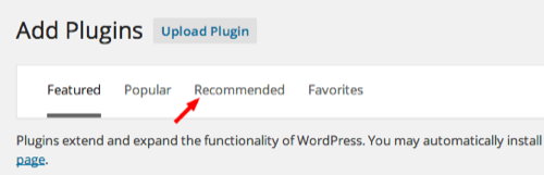 recommended plugin wordpress