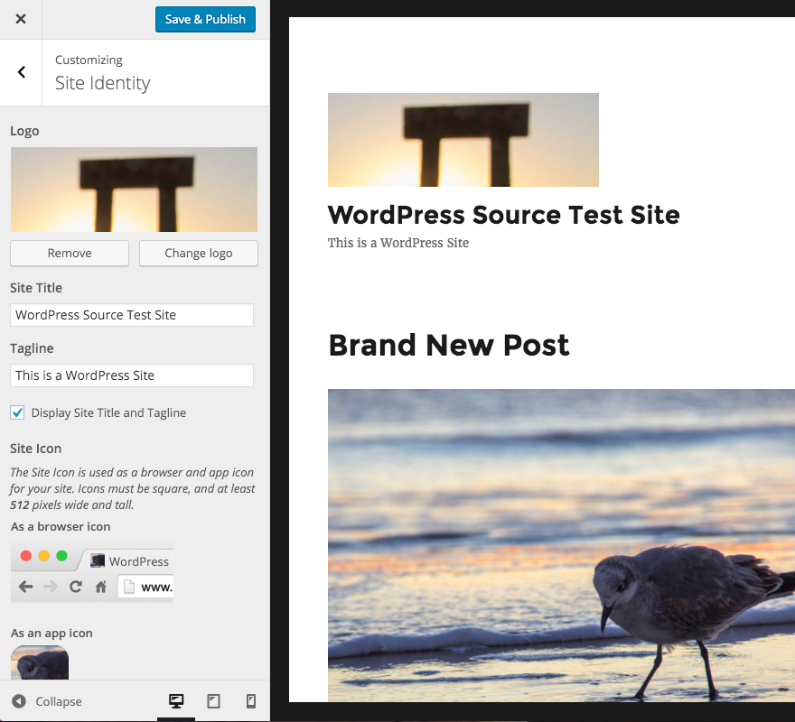 wordpress 4.5 theme logo