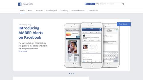facebook newsroom wordpress